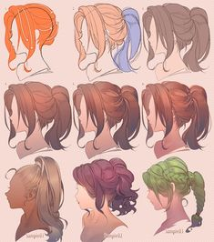 "河CY on ""Drawing hair♀"" Best Picture For art dessin lune For Your Taste You are looking for some Digital Painting Tutorials, Digital Art Tutorial, Art Tutorials, Anime Drawings Sketches, Manga Drawing, Anime Hair Drawing, Drawing Art, Drawings Of Hair, Hair Styles Drawing"
