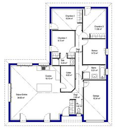 plan appartement 90m2 3 chambres