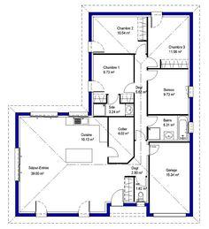 plan de maison 90m2