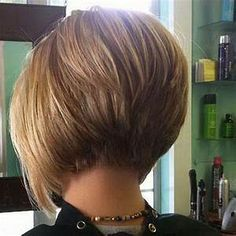 2018 Popular Short Inverted Bob Haircut Back View