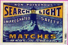 #Tulitikku Oy #Tulitikkupakkaus #Tulitikkuetiketti #Majakat #Meri #Etiketit #Aallot #Valot #Made in Sweden #Tändstickor #Tändsticksask #Etikett #Fyrbyggnad #Sjö #Belysning #Matches (firemaking) #Label #Safe matches #Light house #Sea #Lights Personalized Items, House, Home, Homes, Houses