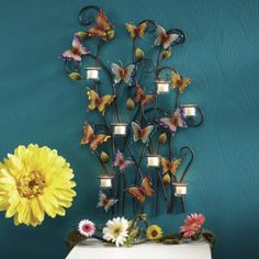 Butterfly Votive Art