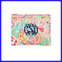 bb6ba246f105 Monogrammed Summer Paisley Zip Pouch Personalized - Shoulder bags ( Amazon  Partner-Link)