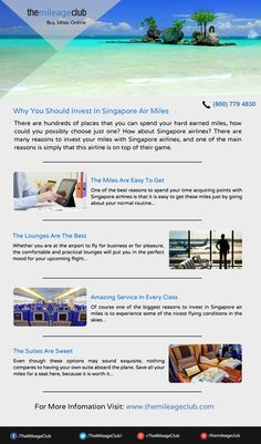 With Amazing prices and superb deals, there are so many reasons why someone should invest in Singapore air miles. Singapore, Investing, Amazing