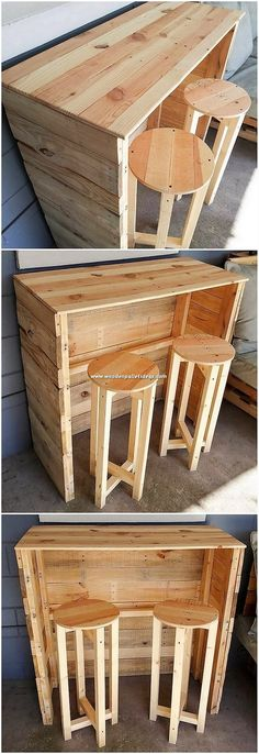 How about creating a bit of creation of kitchen counter table and stools with the wooden pallet use in it? Well, it sounds thrilling but having such creations are not simply meant for keeping the house place appealing however it is able to even act out as the piece of furniture to make it get added in your wine area.