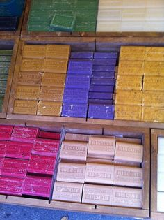 Soaps at the Market, Provence region of France.