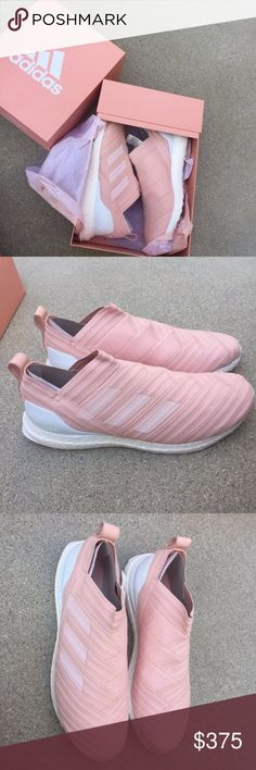 466ad937af55 Shop Men s adidas Pink White size Sneakers at a discounted price at  Poshmark. Description  NIB Kith X Adidas Authentic Soccer Nemeziz 17  Ultraboost ...