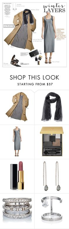 """""""Winter Layers"""" by shift ❤ liked on Polyvore featuring Naomi Campbell, Chanel, Valentino, Michael Kors, Yves Saint Laurent, Finn, Hoorsenbuhs, Repossi, Garance Doré and Hard Graft"""