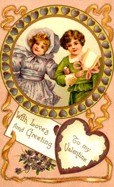 Vintage Valentine Greeting Postcard