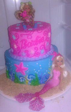 Barbie & Mermaid  cake