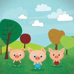 Three Little Pigs illustrations by Gosia Czyszczon, via Behance