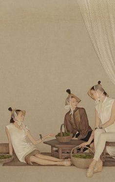 "shanghai fashion photographer SUN JUN's ""TEA"" series"