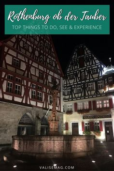 Rothenburg ob der Tauber may be a small city, but it's full of amazing experiences. Don't miss these 8 experiences when you visit.