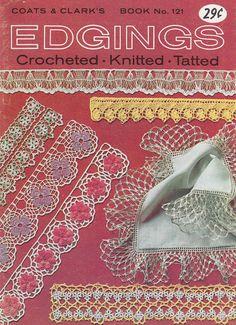 Edgings Pattern Booklet - Vintage Crochet, Knitting and Tatting Patterns