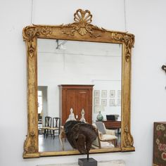 A Large Giltwood Overmantle Mirror Circa 1870 MirrorLiving Room