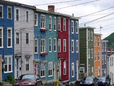 Another colorful street in St. Newfoundland Canada, Newfoundland And Labrador, Great Places, Places Ive Been, Places To Travel, Places To Visit, Canada Eh, Dream Trips, Prince Edward Island