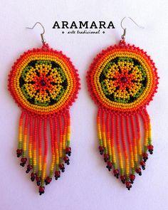 Your place to buy and sell all things handmade Flower Earrings, Beaded Earrings, Crochet Earrings, Native American Earrings, Mexican Jewelry, Bead Art, Jewelry Making, Beads, Elsa
