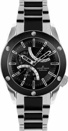 Jacques Lemans Men's 1-1634F Liverpool GMT Sport Analog GMT Watch Jacques Lemans. $339.99. Quartz movement. Water-resistant to 100 m (330 feet). Case diameter: 46 mm. Multifunction watch gmt. Hardened crystex crystal. Save 41% Off!