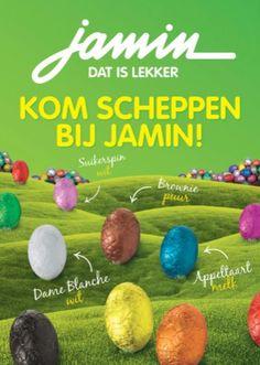 Wat is Pasen zonder de heerlijke chocolade paaseieren? Jamin heeft dit jaar wel hele opmerkelijke smaken! Benieuwd? Bekijk dan snel de folder.