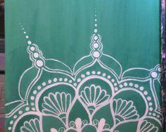 Hand bemalt Gold Mandala Acryl auf Leinwand von JenniferAnnFineArt