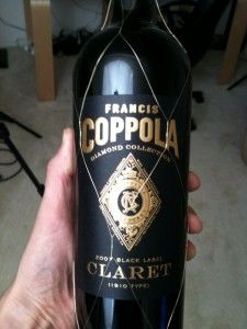 Francis Coppola Claret: is a perfectly balanced and elegantly textured wine with supple tannins, rich fruit concentration and alluring notes of spice and wood. It is a lovely accompaniment to filet mignon topped with bleu cheese, grilled lamb chops or truffle buttered potatoes.