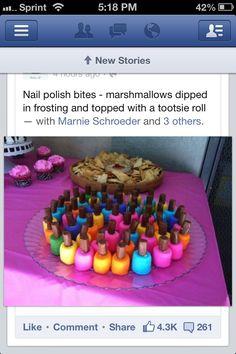 Cute idea for a girl birthday party!