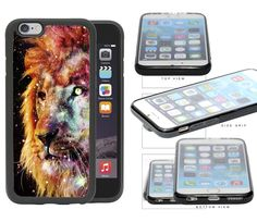 Trippy Nebula Lion Rubber TPU Cell Phone Case Cover iPhone 6 (4.7 INCH SCREEN). Full access to all ports & buttons. Molded to fit perfectly. Light weight. Durable. ATTENTION: ONLY FITS iPhone 6 (4.7 inch) Screen.