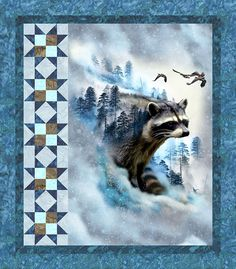 eQuilter Free Pattern - Raccoon Ravine from http://www.equilter.com/pattern/892/raccoon-ravine?fn=pa_20170814194551