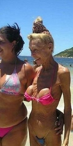 OMG...good reason not to get breast enhancements/implants.