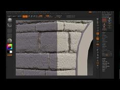 ▶ Zbrush sculpt stone wall(RUS) - YouTube