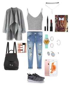 """""""super cute outfit"""" by kunmi15 ❤ liked on Polyvore featuring Chicwish, Glamorous, NIKE, rag & bone, Full Tilt, Forever 21, Wet Seal, Stila and NARS Cosmetics"""