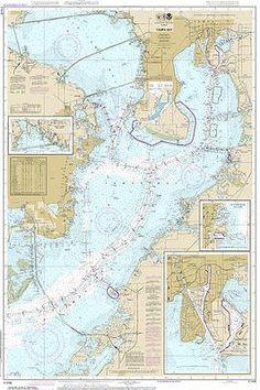 St. Petersburg Tampa Bay Nautical Chart printed on sailcloth for home décor wall art print. Unique Textile Printing http://www.amazon.com/dp/B00S74UTGG/ref=cm_sw_r_pi_dp_PR0.ub01W02FC