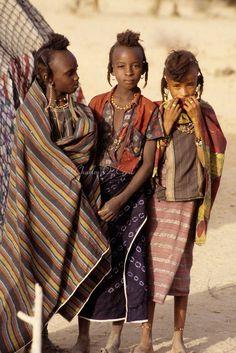 Niger - Akadaney- Fulani Girls.