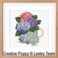 Lesley Teare Designs - Hydrangea Bouquet (cross stitch chart)