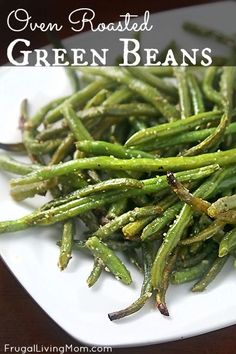 Oven Roasted Green Beans (made from frozen) - I can't even begin to describe how much I loved these! So simple, yet so tasty. I didn't have onion powder, so I used onion salt and omitted the 1/2 tsp salt... I think I could eat these every day. They're THAT good! :)