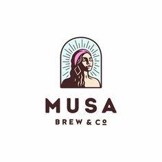 👈 MUSA Brew & Co by @prstiperje - 👉 www.logoinspirations.co/learn - ✅ LEARN LOGO DESIGN👇👇 @learnlogodesign @learnlogodesign Typo Logo, Typographic Logo, Logo Branding, Branding Design, Logo Inspiration, Minimalist Graphic Design, Learning Logo, Drinks Logo, Great Logos