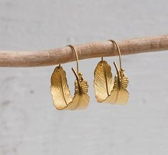 Gold Feather Hoop Earrings Boho Gold Leaf Hoop Earrings Autumn Jewelry Festival Earrings Gift for Her Bohemian Earrings Woodland Jewelry – hoopearrings Small Earrings, Feather Earrings, Leaf Earrings, Silver Hoop Earrings, Boho Earrings, Gold Feathers, Fall Jewelry, Band, Etsy