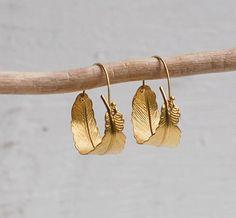 Gold Feather Hoop Earrings Boho Gold Leaf Hoop Earrings Autumn Jewelry Festival Earrings Gift for Her Bohemian Earrings Woodland Jewelry – hoopearrings Small Earrings, Feather Earrings, Leaf Earrings, Silver Hoop Earrings, Boho Earrings, Feuille D'or, Gold Feathers, Fall Jewelry, Band