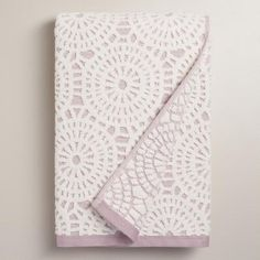 One of my favorite discoveries at WorldMarket.com: Lavender Lydia Medallion Sculpted Bath Towel