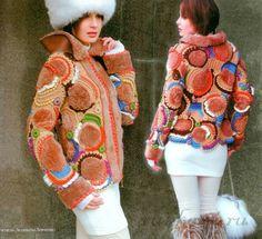 вязаная куртка http://ru4kami.ru/vyazhem-odezhdu/943-vyazanaya-kurtka-s-mehom.html