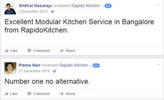 Happy Costumers Reviews  We are One Of the leading #ModularKitchenManufacturer based in Bangalore