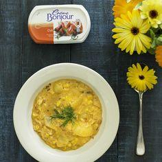 @sweetfoodomine -blogin lohi-maissimuhennos sulaa suussa!Ihanaa hyvänmielenruokaa, lämmittävää, lohduttavaa ja maukasta. Resepti löytyy blogista! #cremebonjoursuomi