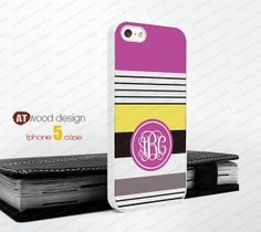 IPhone 4 case Iphone 4 case Monogram geometric Hard by Atwoodting, $6.99