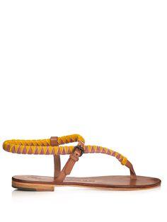 Andreina velvet and leather sandals | Álvaro | MATCHESFASHION.COM
