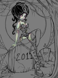 Frankenrella Coloring WIP by NoFlutter.deviantart.com on @deviantART