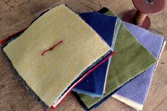 Great pieces for Wool Applique....from our collection of super 100% Pre-felted Wool....no 2 are the same!