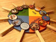 přiřazování charakteristik ročních období Busy Bags, Montessori, Crafts, Food, Seasons, School, Kids, Tote Bags, Manualidades