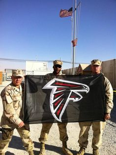 Falcons fan Mike sent us this photo from Kandahar! Indianapolis Colts, Cincinnati Reds, Pittsburgh Steelers, Dallas Cowboys, Atlanta Falcons Rise Up, Atlanta Georgia, Falcons Football, Football Pics, Giants Baseball