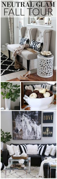 See this design blogger's neutral glam fall home tour with simple, easy and cozy…