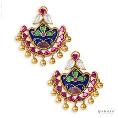 Crystal and Enamel Earrings - Arnav & Co.